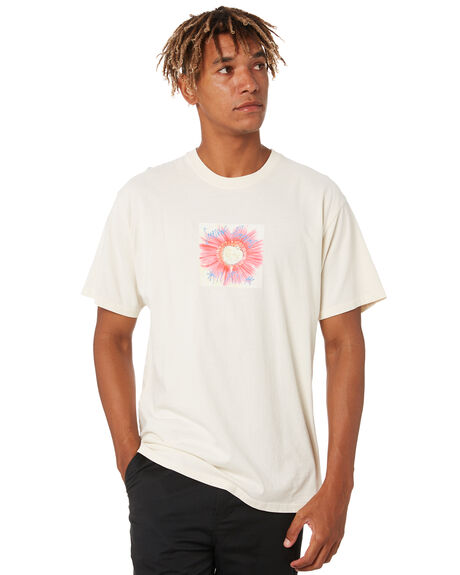 NATURAL MENS CLOTHING HUF TEES - TS01405-NATUR