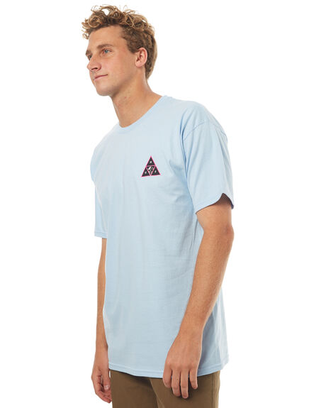 LIGHT BLUE MENS CLOTHING HUF TEES - TS00187LBLU