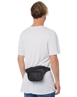 BLACK MENS ACCESSORIES THE BUMBAG CO BAGS + BACKPACKS - DB017BLK