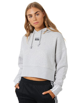 LIGHT GREY HEATHER WOMENS CLOTHING ADIDAS ACTIVEWEAR - EJ8538GRY