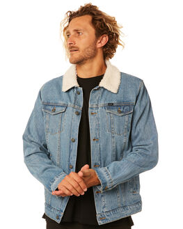 MID BLUE MENS CLOTHING RIP CURL JACKETS - CJKEV18962