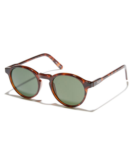 SHINY TORTOISE GREEN WOMENS ACCESSORIES ROXY SUNGLASSES - ERJEY03072XCGC
