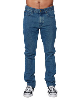 MID BLUE MENS CLOTHING RVCA JEANS - RV-R307224-MB3