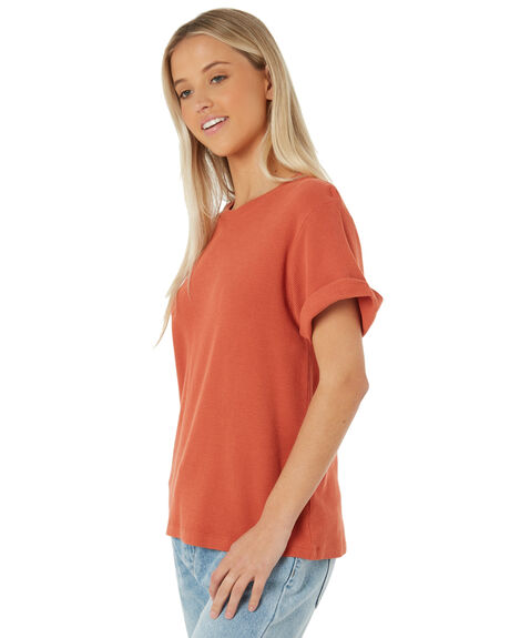 RUST OUTLET WOMENS SWELL TEES - S8183003RUST