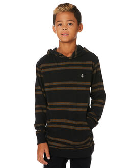 BLACK KIDS BOYS VOLCOM TOPS - C0331902BLK