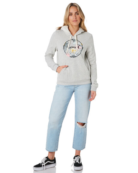 GREY HEATHER WOMENS CLOTHING HURLEY JUMPERS - CN8550050