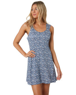BLUE WOMENS CLOTHING THE HIDDEN WAY DRESSES - H8202441BLUE