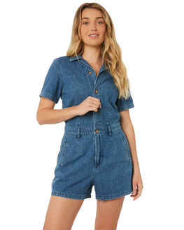 DENIM DAZE WOMENS CLOTHING WRANGLER PLAYSUITS + OVERALLS - W-951162-FX6
