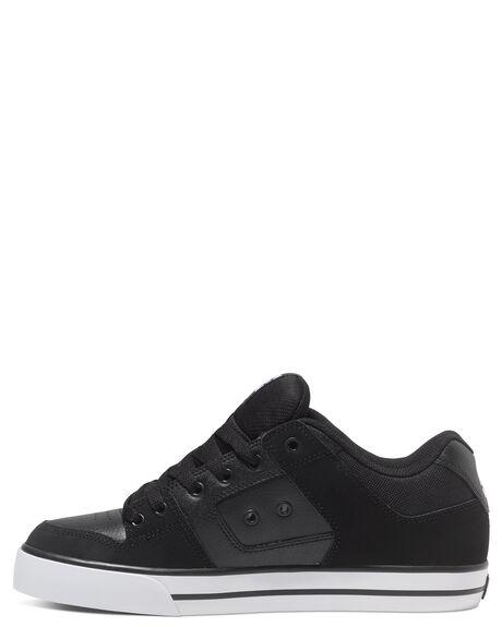 BLACK BLACK WHITE MENS FOOTWEAR DC SHOES SNEAKERS - 300660-BLW