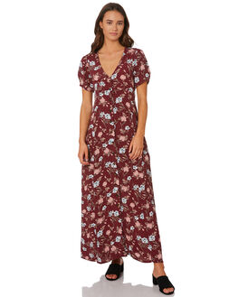 BURGUNDY OUTLET WOMENS THE HIDDEN WAY DRESSES - H8194443BUNGY