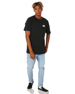 BLACK MENS CLOTHING VANS TEES - VNA49KRBLK