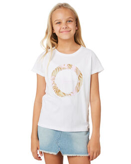 WHITE KIDS GIRLS RIP CURL TOPS - JTEEI11000