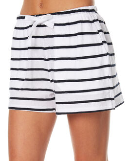 COASTLINE STRIPE WOMENS CLOTHING ASSEMBLY SHORTS - AW-S1717CSTS