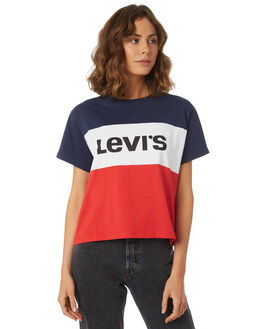 PEACOAT WHITE RED WOMENS CLOTHING LEVI'S TEES - 57650-0000CRED