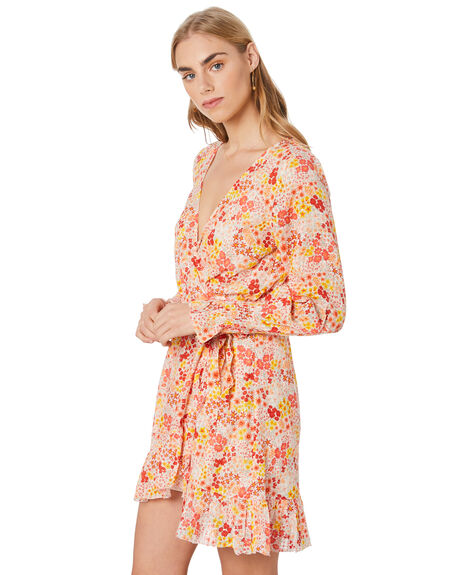 YELLOW COMBO WOMENS CLOTHING TIGERLILY DRESSES - T305470YEL