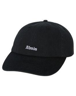 BLACK MENS ACCESSORIES AFENDS HEADWEAR - A184605BLK