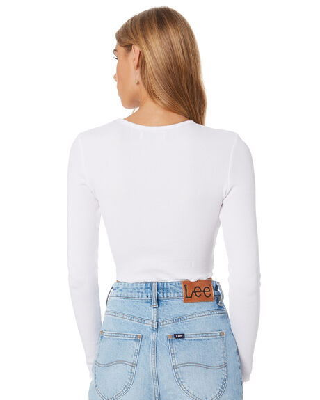 WHITE WOMENS CLOTHING NUDE LUCY TEES - NU23575WHT