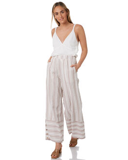 NATURAL WOMENS CLOTHING TIGERLILY PANTS - T305373NAT