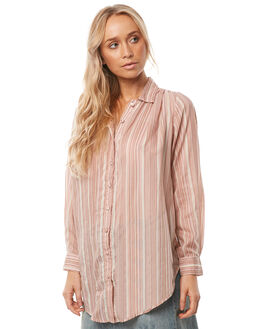 GUAVA STRIPE WOMENS CLOTHING SAINT HELENA FASHION TOPS - SH17HS415GUAVA