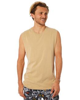 STRAW MENS CLOTHING BILLABONG SINGLETS - 9582506STRAW