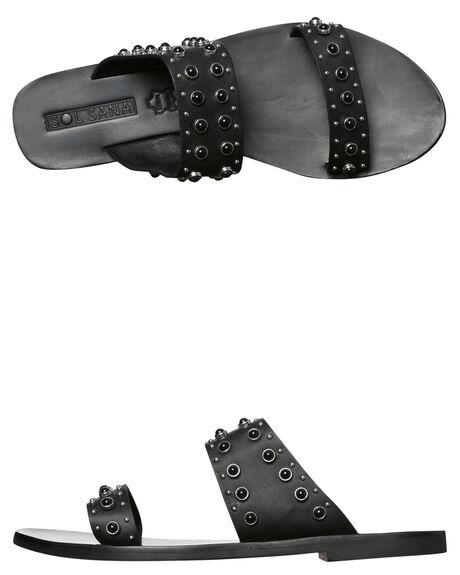 BLACK WOMENS FOOTWEAR SOL SANA FASHION SANDALS - SS171S352BLK
