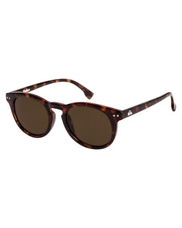 MATTE TORTOISE BROWN KIDS BOYS QUIKSILVER SUNGLASSES - EQBEY03007-XCCC