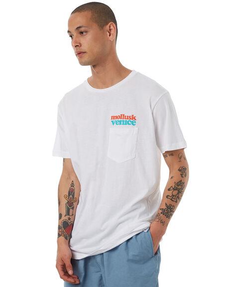 WHITE MENS CLOTHING MOLLUSK TEES - MS1518WHT