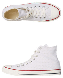 WHITE WOMENS FOOTWEAR CONVERSE HI TOPS - SS160514WHTW