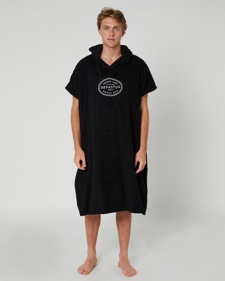 BLACK MENS ACCESSORIES DEPACTUS TOWELS - D51941801BLACK