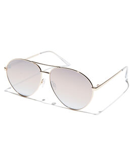 GOLD BROWN WOMENS ACCESSORIES QUAY EYEWEAR SUNGLASSES - QW-000406GLDBR