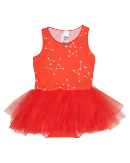 CONFETTI STAR RED KIDS BABY BONDS CLOTHING - BYEFACNFT
