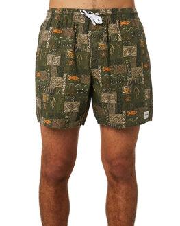 OLIVE MENS CLOTHING RHYTHM SHORTS - JUL19M-JM05-OLI
