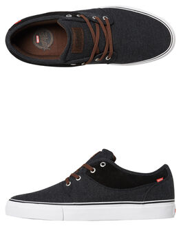 BLACK CANVAS MENS FOOTWEAR GLOBE SKATE SHOES - GBMAHALO-20367