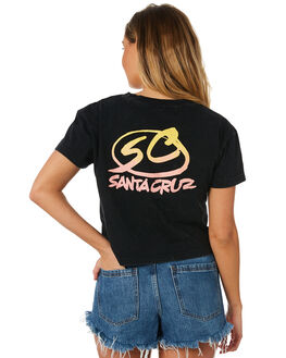 ACID BLACK WOMENS CLOTHING SANTA CRUZ TEES - SC-WTC8700ABLK