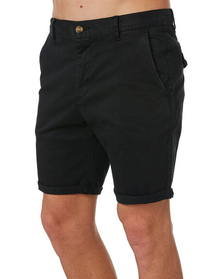 BLACK MENS CLOTHING ACADEMY BRAND SHORTS - 20S608BLK