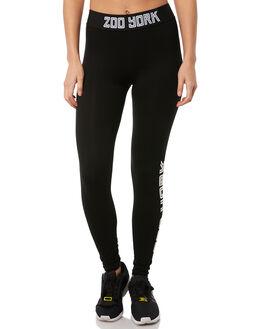 BLACK WOMENS CLOTHING ZOO YORK PANTS - ZY-WPA8319BLK
