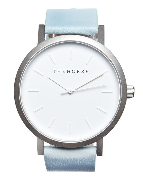SILVER WHITE POW BLU V MENS ACCESSORIES THE HORSE WATCHES - ST0123A18
