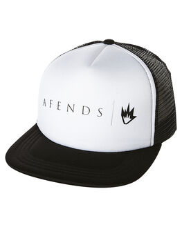 WHITE MENS ACCESSORIES AFENDS HEADWEAR - 13-01-032WHI11