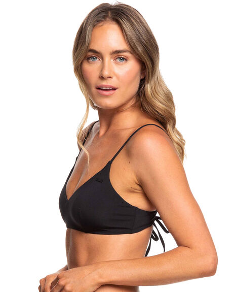 TRUE BLACK WOMENS SWIMWEAR ROXY BIKINI TOPS - ERJX304059-KVJ0