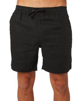 BLACK MENS CLOTHING ACADEMY BRAND SHORTS - 20S609BLK