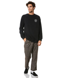 BLACK MENS CLOTHING BRIXTON JUMPERS - 02730BLK