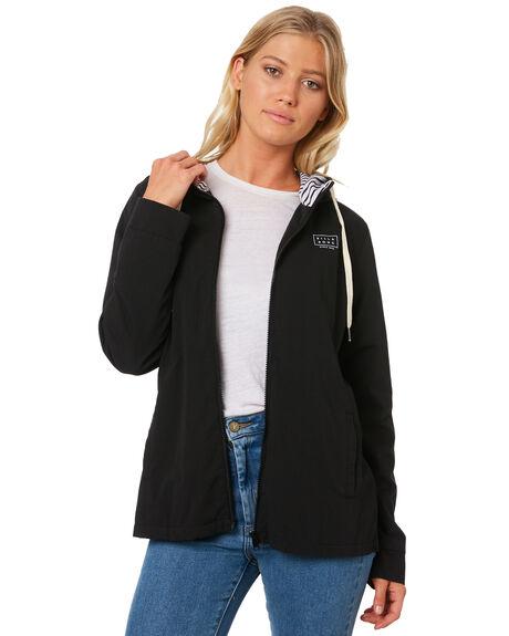 BLACK WOMENS CLOTHING BILLABONG JACKETS - 6595891BLK
