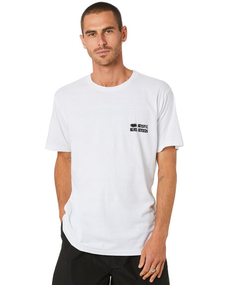 WASHED WHITE MENS CLOTHING MISFIT TEES - MT0M0002WWT