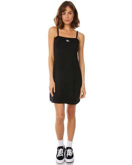 BLACK WOMENS CLOTHING STUSSY DRESSES - ST182503BLK