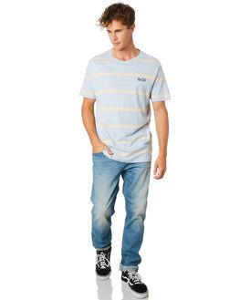 LIGHT BLUE MENS CLOTHING RIP CURL TEES - CTEPX21080