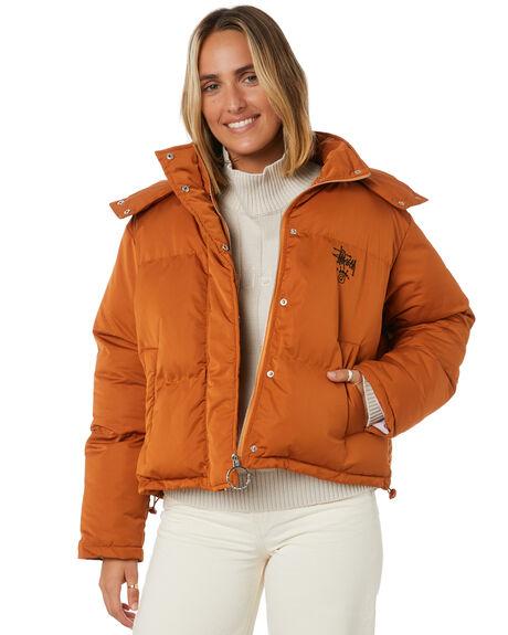 TAN WOMENS CLOTHING STUSSY JACKETS - ST106701TAN