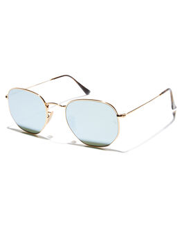 GOLD BLUE MENS ACCESSORIES RAY-BAN SUNGLASSES - 0RB3548N00130