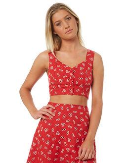 RAD RED OUTLET WOMENS VOLCOM FASHION TOPS - B0531810RAD