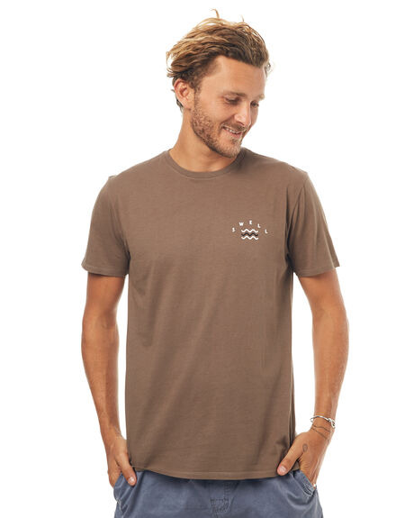 WASHED OLIVE MENS CLOTHING SWELL TEES - S5171007WSHOL