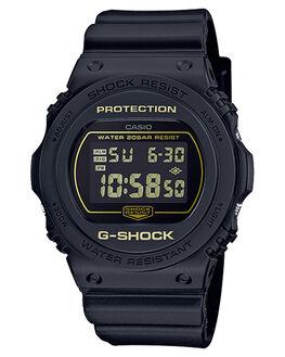 BLACK MENS ACCESSORIES G SHOCK WATCHES - DW5700BBM-1DBLK